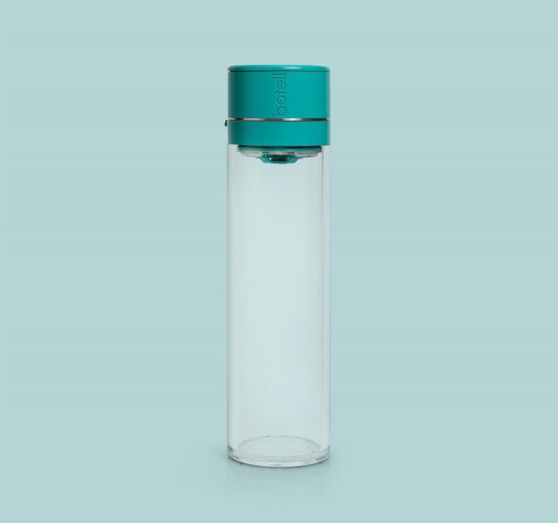 Botell smart water bottle app peacock green