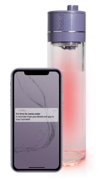 Botell smart water bottle and app midnight purple